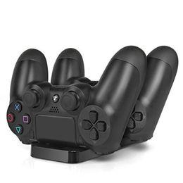 PS4 slim Acessórios Joystick PS4 Estação de Carregamento Stand Play Station 4 / Slim / Carregador Pro para Playstation 4 / Slim / Pro PS4 controlador