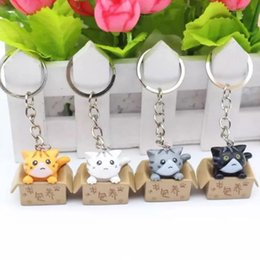 black cat phone holder NZ - Hot Cat Keychain Seek nurturing Cat Key Chain Creative Gifts Ring Key Holder For Bags Car Phone Decoration Keyring