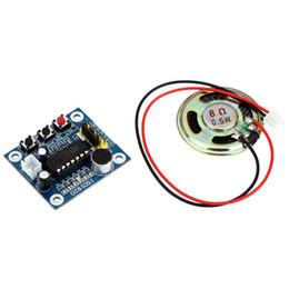 Vente en gros-3 Set ISD1820 Sound Module de lecture d'enregistrement sonore avec micro-haut-parleurs audio