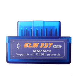 Chinese  2018 Best Mini ELM327 Bluetooth OBD2 Latest Version V2.1 Mini ELM 327 Bluetooth For Multi-brands CAN-BUS Supports All OBD2 Model manufacturers