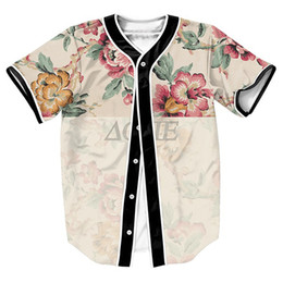 Chinese  Wholesale- FLOWER Jersey OVERSHIRT BASEBALL SHIRTS TOPS SWEAT SHIRT MEN'S CLOTHING SUMMER STYLE 3D PRINT with Single Breasted manufacturers