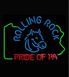 rolling rock beer signs 2019 - Fashion New Handcraft Rolling Rock Pride Of Pa Beer Real Glass Tubes Beer Bar Pub Display neon sign 19x15!!!Best Offer!