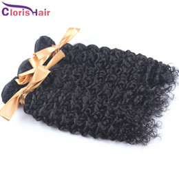 Discount tissage brazilian hair - Kinky Curly Brazilian Human Hair Weave Bundle Deals Cheap tissage bresilienne Jerry Curl Sew in Remi Hair Extensions 3pc