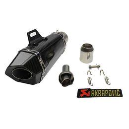 $enCountryForm.capitalKeyWord Canada - Length 245mm Motorcycle Exhaust Muffler Pipe With DB Killer Slip On Dirt Street Bike Motorcycle for Universal Diameter 51mm
