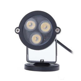 lamp holder 12v UK - Wholesale-3W Led Garden Light Outdoor Decorative Lawn lamps AC DC 12V IP65 Waterproof Path Yard Floodlight Spot light Base Holder
