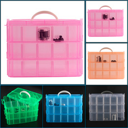 $enCountryForm.capitalKeyWord Canada - 30 Grids 5 Colors Plastic Storage Box For Toys Jewelry Display Makeup Case Holder Craft
