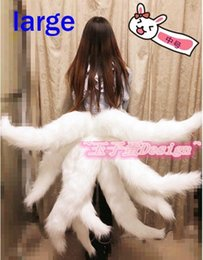 Xl Fox Halloween Costume Pas Cher-Lol Cosplay Costumes Sexy Fox LOL Ahri Queue Dynastie Ahri Nine-Tailed Adulte Femmes Anime Halloween Carnaval Cosplay Costumes