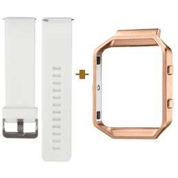 $enCountryForm.capitalKeyWord NZ - Quick Release Smart Watch Band for Fitbit Blaze, Classic Bracelet Strap, Small and Large Size Available, White, with Rose Gold Frame