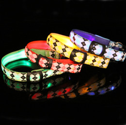 lighted breakaway dog collar 2019 - Manufacturers selling highlighting the flashing LED lights a dog collar pet collars lost dog collars with no LED lamp gl