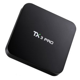 Android Tv Box Full Loaded Canada - TX3 PRO Android 7.1 TV Box Amlogic S905X KD 17.1 Krypton Loaded WiFi Build 1GB 8GB Better OTH046