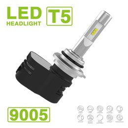 Audi turbine online shopping - 2017 Set HB3 Turbine T5 LED Headlight Slim Kit W LM Auto Car CSP Y19 Chips All in one Pure White K Adjust Angle Driving Fog