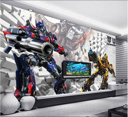 Transformer seTs online shopping - 3d wallpaper custom mural non woven d room wallpaper d transformers kumite TV setting wall photo wallpaper for walls d