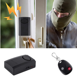 control security systems Canada - Wireless Remote Control Vibration Alarm Home Security Door Window Car Motorcycle Anti-Theft Security Alarm Safe System Detector