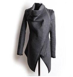 $enCountryForm.capitalKeyWord Canada - New Women Irregular Overcoat Slim Wool Warm Long Winter Coat Jacket Trench Fashion Windbreaker Parka Outwear Stand Collar Outwear