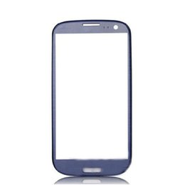 Chinese  For Galaxy S3 iii i9305 I9300 I535 I747 L710 T999 glass lens front glass Pebble Blue-not LCD or digitizer 10pcs lot manufacturers