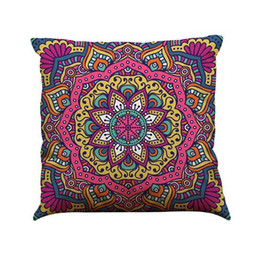 $enCountryForm.capitalKeyWord UK - Indian Style Pattern Cushion Cover Linen Pillow Case 45CM Square 18 Inch Throw Pillow Case Natural Healthy Material Breathable Pretty Decor