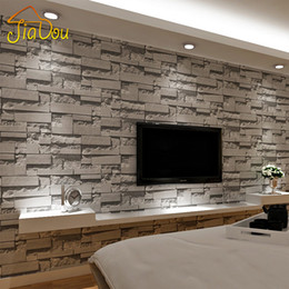 Wallpaper For Living Room 2017 discount grey brick wallpaper living room | 2017 grey brick