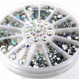 $enCountryForm.capitalKeyWord NZ - 2016 New 5 Sizes AB 3D Nail Art Rhinestones Crystal Glitter Nails Wheel Decorations for DIY Studs Free Shipping