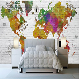 Discount world map wallpaper vintage world map wallpaper vintage world map wallpaper vintage 2018 3d european style custom made world map office gumiabroncs