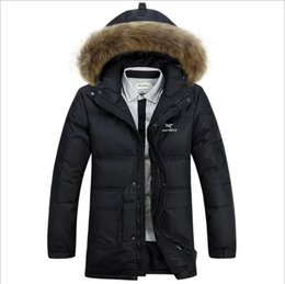 Wholesale- mens down jacket 2016 winter thickening warm duck down jackets  and coats hooded fur collar men outerwear parka down coat WLF091 22011acb0