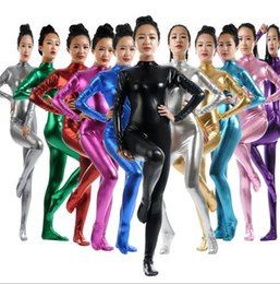 $enCountryForm.capitalKeyWord NZ - open zipper Full body lycra spandex Unisex Metallic Spandex Zentai Cosplay Sexy All-inclusive tights Suits   cosplay cartoon suit