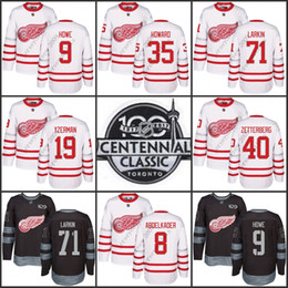 948cdc8f102 ... 2017 Centennial Classic 100th Anniversary Detroit Red Wings 71 Dylan  Larkin 9 Gordie Howe Steve Yzerman ...
