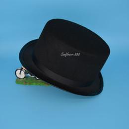 0265912a580 Wholesale-Black Children Kids Boy Girl Top Hat Cap Fancy Dress Costumes  Party Wedding Stage Dance Show