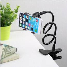 flexible arm clamp UK - Long Arm Flexible Cell Phone Clip Holder Lazy Clamp Bracket Bed Desktop Holder for iphone 7   7 plus 6S GPS