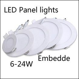 18w Round NZ - Super-Thin Led Panel Lights Round Square 6w 9W 12W 15W 18W 24W Led Recessed Downlights Lamp Lowest Price Ultrathin led ceiling lights