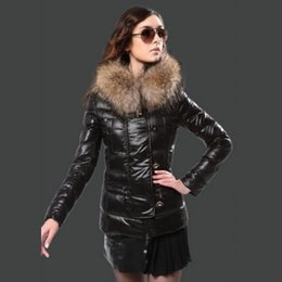 b457b176b1b2 Women Hooded Down Coat Hood Canada - 2017 Winter coat women Real Fur hood  Button and
