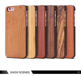 handmade wood phone cases Canada - Eco-friendly Real Wood Case For Iphone 7 Handmade Customized Wooden Mobile Phone Hard Cases For Apple iphone 6 plus 6s 7plus