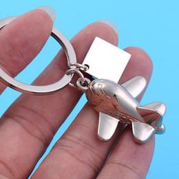 Keychain Aircraft Canada - High Quality Hot Sell 5pcs Lot Cartoon Aircraft Shape Keychain Key Chain for Men Women Fashion Zinc Alloy Bag Key Rings