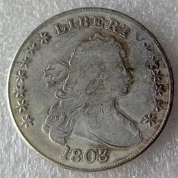 $enCountryForm.capitalKeyWord Canada - United States Coins 1803 Draped Bust Brass Silver Plated Dollar Copy Coin