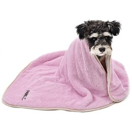 Towels For Dogs NZ - Wholesale- Dog Blanket Luxury Wraps Fabric Soogan Exquisite Workmanship Ideal Blanket For Small Large Size Pets Puppy Bath Towel Cat Towel
