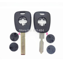 Keys Chip Shell Australia - 20pcs lot 2 track Transponder car key shell for bmw car no chip inside replacement cover case auto entry system key