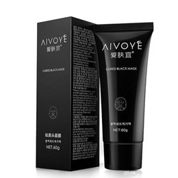 Oily Face Mask NZ - 100pcs AFY AIVOYE Suction Black Mask Deep Cleansing Face Mask Tearing Resist Oily Skin Strawberry Nose Black Mud pore cleaner Facial mask