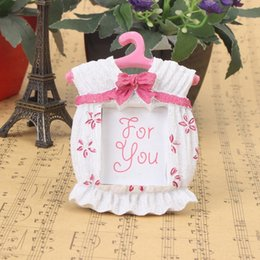 hot sale baby shower pink color cute baby themed photo frame favorsgirl place card holder 100pcs lot free shipping