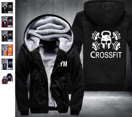 Cardigan Swag Men Pas Cher-Gros Mode Crossfit Hoodies Hommes Fitness Tops Skull Butin Épaissir Zipper Polaire Longue