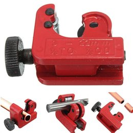 Edge Cutters Australia - Wholesale- Mini Tube Cutter Cutting Tool for 3mm-22mm Copper Brass Aluminum Plastic Pipes Zinc Alloy Tube Cutter Color Red