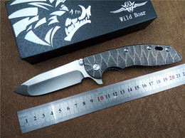 Wild boar knives online shopping - Quality KESIWO wild boar HINDERER XM folding knife blade D2 TC4 titanium handle tactical knife hunting camping EDC tools