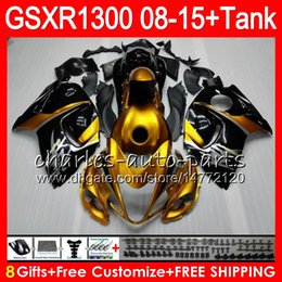 Discount gsxr fairing red white - 8Gifts 23Colors For SUZUKI Hayabusa GSXR1300 08 09 10 11 12 13 14 15 19HM18 Gold black GSX R1300 GSXR 1300 2008 2009 201