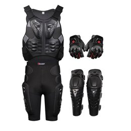 $enCountryForm.capitalKeyWord NZ - Herobiker Motorcycle armor with a reflecting strip motorcycle jackets+ Gears Short Pants+protective Motocycle Knee Pad +gloves 4pcs 1sets