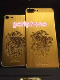 house plates Australia - Hot selling stylish real gold black matt dragon cover for iphone 7 housing back panel For iphone 7 24kt gold plated limited edition back