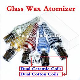 $enCountryForm.capitalKeyWord NZ - New Glass Ribbon Atomizer E cigs Wax Glass Globe atomizer Wax dry herb vaporizer pen Glass Ribbon vaporizer dual coils electronic ecigs