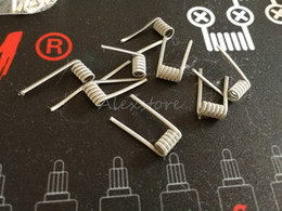 Pre built coils for rda online shopping - Alien clapton pre built coil FLAT GA ohm premade coils wrap prebuilt heating wires for vape rda rba