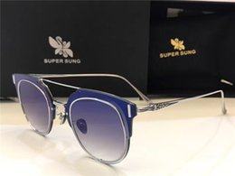 Sing pink online shopping - Luxury Sunglasses Italy SUPER SUNG Top Quality Titanium Alloy Sunglasses Diamond stone Full Frame Women Brand Designer UV400 Protection