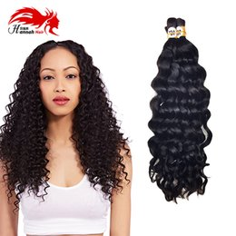 $enCountryForm.capitalKeyWord NZ - Human Hair For Micro Braids Brazilian Deep Curly Wave Bulk Hair Virgin Human Hair For Braiding Bulk No Weft