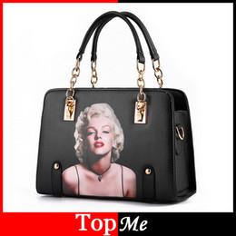 handbag designs patterns 2019 - Wholesale-Marilyn Monroe Pattern Women Bags Lady Handbags Brand Design Cross Body Zipper Shoulder Bag Female Messenger E