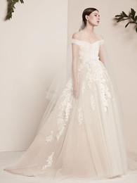 elie saab wedding custom dress 2019 - off the shoulders vintage lace wedding dresses 2018 elie saab bridal gowns appliques beaded formal long wedding gowns di