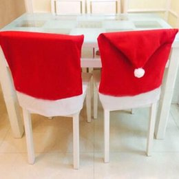 Nice Discount Cloth Chair Covers Home Christmas Chair Covers Santa Clause Red  Hat For Dinner Decor Home